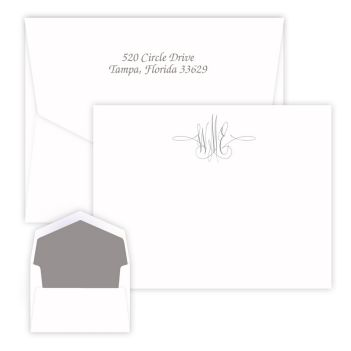 Virginia Monogram Card - Raised Ink