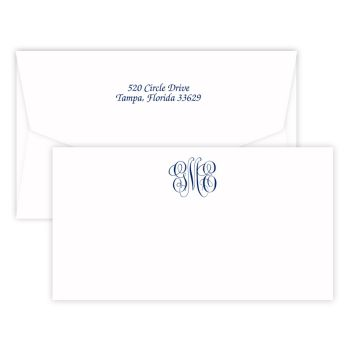 Delavan Monogram Chesapeake Card - Raised Ink