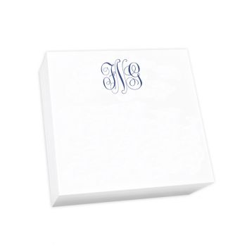Delavan Monogram Desk Slab - White