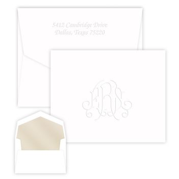Heartfield Monogram Note - Embossed