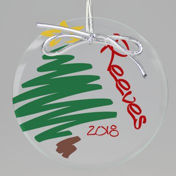 Festive Christmas Keepsake Printed Ornament
