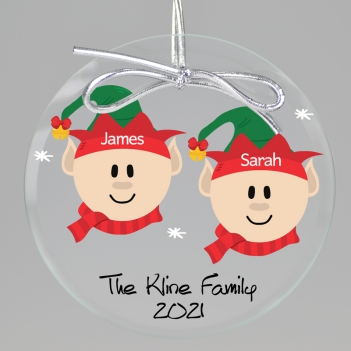 Santa Elves Keepsake Printed Ornament
