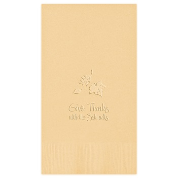 Autumn Guest Towel - Embossed