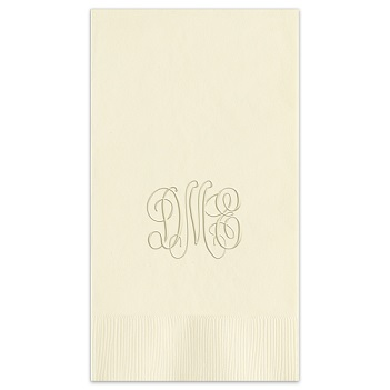 Classic Monogram Guest Towel - Embossed