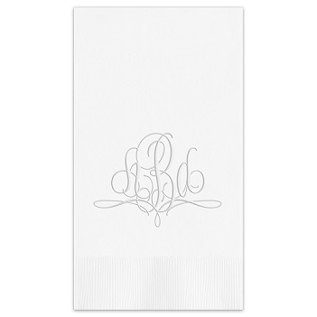 Paris Monogram Guest Towel - Embossed