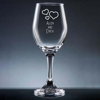 Nuptial Wine Glass with Stem