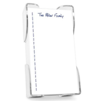 Family Pride List - White with holder