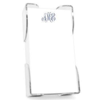 Delavan Monogram List - White with holder