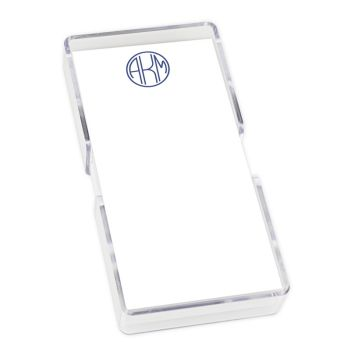 Delavan Monogram Mini List - White with holder