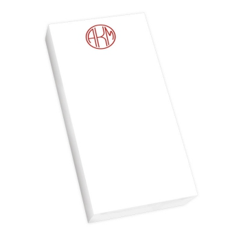 Delavan Monogram Mini List - White REFILL