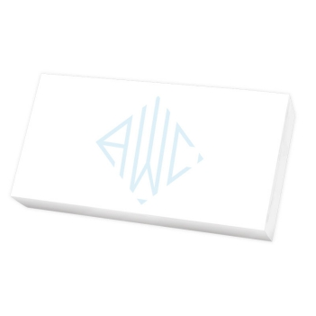 Henley Watercolor Monogram Mini List - White REFILL