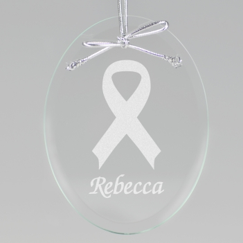 Ribbon Keepsake Ornament - Oval