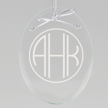 Terrace Monogram Keepsake Ornament - Oval