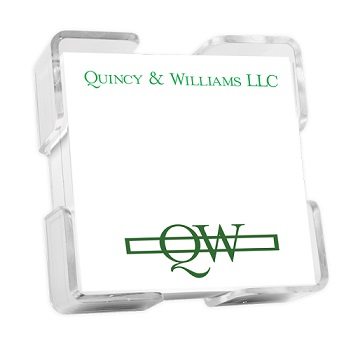 Custom Image Petite Square - White with holder