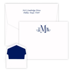 Cervelli Monogram Card - Raised Ink