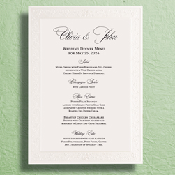 Personalized Fl Scroll Wedding Menu Cards Collection